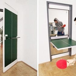 Fold Out Ping Pong Door