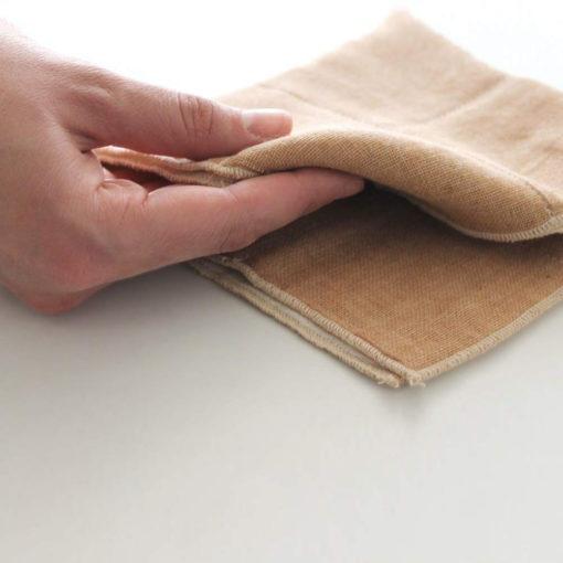 Organic Cotton Mini Towel, Brown