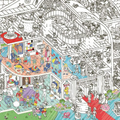 Giant Coloring Poster, Crazy Museum