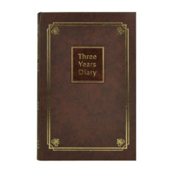 Brown Three Years Diary, A5, Brown
