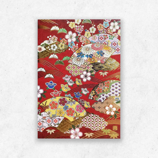 Japanese Art Greeting Cards, Traditional Artworks, Set of 5